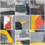 Collage av väggtextur royaltyfri fotografi