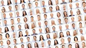 Collage avec beaucoup de gens d'affaires de portraits photographie stock