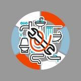Collage avec des icônes - un équipement de salle de bains illustration libre de droits
