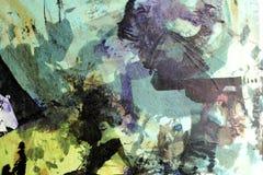 Collage avec l'encre 2 Image libre de droits