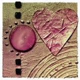 Collage avec le coeur Photos stock