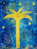 Collage avec le palmier Photo libre de droits