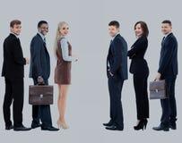 Collage avec les gens d'affaires de sourire heureux Photographie stock libre de droits
