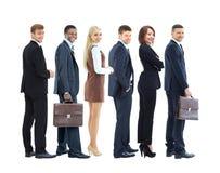 Collage avec les gens d'affaires de sourire heureux Image stock