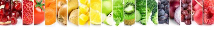 collage bär fruktt grönsaker royaltyfri fotografi