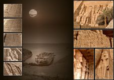 Collage 002b Abu Simbel (without title) Stock Photography
