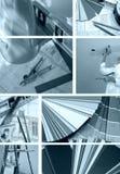 Collage B/W de las mejoras para el hogar Foto de archivo