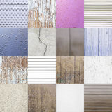 Collage of backgrounds with textures Stock Photography