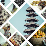 Collage of Bali Indonesia images - travel background my photo Stock Photos