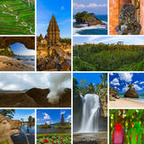 Collage of Bali Indonesia travel images my photos Stock Photos