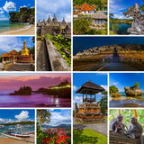 Collage of Bali Indonesia travel images my photos Stock Image