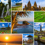 Collage of Bali Indonesia travel images my photos Stock Photography
