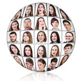 Collage ball of people with emotions Royalty Free Stock Photo