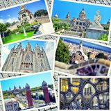 Collage of Barcelona Royalty Free Stock Photography