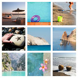 Collage of beach holiday moments Royalty Free Stock Photo