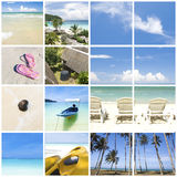 Collage beach photo Stock Photos