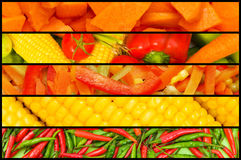Collage - beaucoup de fruits et légumes Images stock