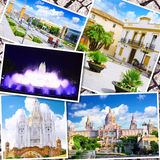 Collage of beautiful Barcelona. Royalty Free Stock Image
