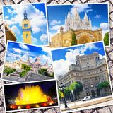 Collage of beautiful Barcelona. Stock Photo