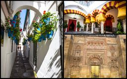 Collage of  beautiful Cordoba Spain  Europe  . Collage of  beautiful Cordoba Spain  Europe Stock Image