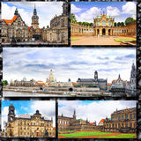 Collage of beautiful Dresden. Germany. Royalty Free Stock Photos