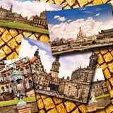 Collage of beautiful Dresden. Germany. Stock Image