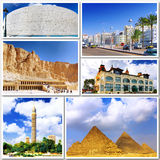 Collage of beautiful Egypt . Stock Images
