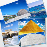 Collage of beautiful Egypt . Stock Image