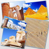 Collage of beautiful Egypt . Royalty Free Stock Photography