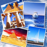 Collage of beautiful Egypt . Stock Photos
