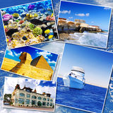 Collage of beautiful Egypt . Royalty Free Stock Images