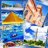 Collage of beautiful Egypt . Stock Photo