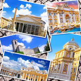 Collage of beautiful Italy. Stock Photos