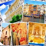 Collage of beautiful Italy. Stock Photo