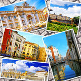 Collage of beautiful Italy. Royalty Free Stock Image