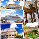 Collage of beautiful Italy. Royalty Free Stock Photos