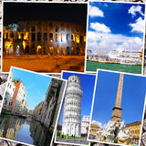 Collage of beautiful Italy. Royalty Free Stock Photo