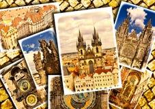 Collage of beautiful Prague. Stock Photos