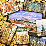 Collage of beautiful Prague. Czech Republic Royalty Free Stock Photography