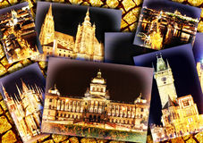 Collage of beautiful Prague. Royalty Free Stock Photography