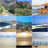 Collage of beautiful Sardinia Italy Royalty Free Stock Photos