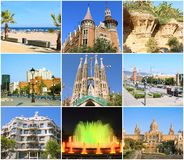 Collage- Beauty Barcelona. Royalty Free Stock Image