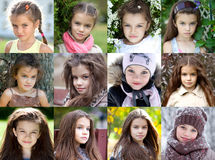 Collage, beauty little girl Royalty Free Stock Photo