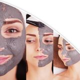 Collage about beauty, spa and health care Stock Photos