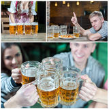 Collage beer  pub Stock Image