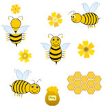 Bees collage Royalty Free Stock Image