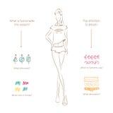 Collage-beige. Vector fashion model. Vector sketch silhouette. Vector samples of design. Dress pencil sketch. Vector fashion outline. Vector style lady. Vector Stock Illustration