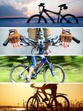 Collage on bicycle ride Royalty Free Stock Image
