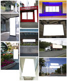 Collage of billboards Royalty Free Stock Images