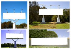 Collage of billboards royalty free stock image